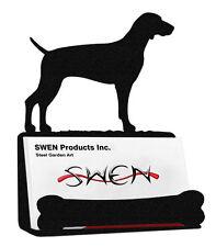 Swen Products Weimaraner Dog Black Metal Business Card Holder