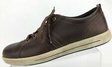 Ecco Casual Sneakers Comfort Brown Leather Lace Up Walking Shoes Mens 44 10,10.5