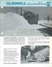 Equipment Brochure - Gledhill - Drift Buster V-Plow - Snow (E3415)