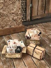 Dollhouse Miniature Artist Jil Weisz Vintage Papers 1:12 Attic Halloween Rust