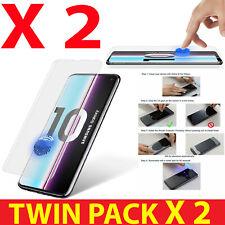 Para Samsung Galaxy S10, + 2 Pack UV-Pegamento Gorilla Completo Curve líquido de vidrio templado