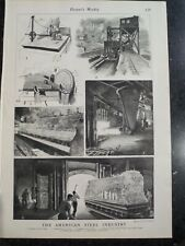 American Steel Industry Homestead Works Pennsylvania Harper's Weekly 1901 #2