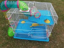 Small Animal Pet Cage Hamster/Mouse/Gerbil Slide Play Tube Slide M022B 2 Tier