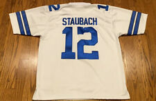 Roger Staubach Dallas Cowboys NFL Throwback Mitchell and Ness Jersey Size 54