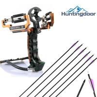 Power Slingshot for Hunting Fishing Catapult Kit With Wrist Brace & 6pcs Arrows