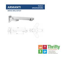 Novelli Armanti Swivel Bath Spout Chrome RRP $168