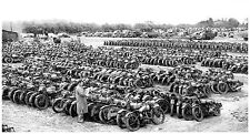 1946  Military motorcycles for sale British. surplus  13 x 19  Photograph