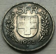 1925 B Switzerland 5 Francs