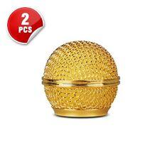 2x Gold farbe Mesh Mikrofon Grille Passend Shure BETA 58 SM58 Mikrofon