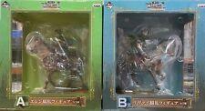 2 Figure ATTACCO DEI GIGANTI ATTACK ON TITAN HORSE Eren Jaeger + Rivaille Levi