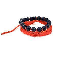 Red macramé Bracelet  And Dolphin Black Bracelet 2 Bracelet Black Onyx