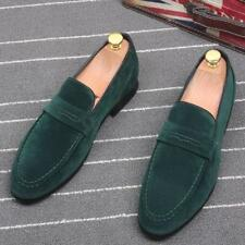 O British Mens Loafers Slip on New Suede Casual Comfy moccasin Driving Shoes