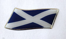 45mm WAVING SCOTLAND FLAG Sticker/Decal - WITH A HIGH GLOSS DOMED GEL FINISH