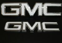 2007 GMC Sierra red letter emblem replacement kit - White Carbon fiber
