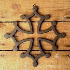 croix occitane en fonte 21 centimètres