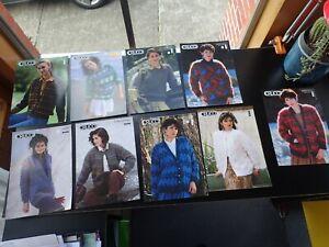 Crucci Ladies Vintage Sweater and Cardigan Knitting Pattern Bulk Lot (9)