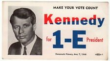 1968 Robert Kennedy for President Campaign Card