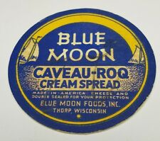 "old vintage 3 1/8"" milk bottle cap cottage cheese cream Blue Moon Thorp WI Wis"