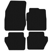Ford Fiesta 2009 to 2012 MK7 Black Floor Rubber Tailored Car Mats 3mm 4pc Set