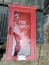 """7FFF86 RED WALL BOX, FIRE BLANKET, 23-3/4"""" X 13-5/8"""" X 6"""", WEIGHS ABOUT 9#, WOOD"""