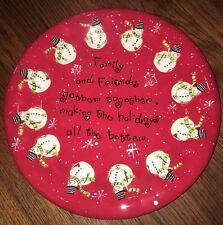 """Roman Inc. New Christmas Family Platter """"Family and Friends Gather Together"""""""