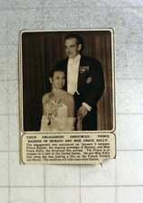 1956 Prince Rainier Of Monaco Announces Engagement Grace Kelly