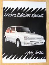 MG METRO TURBO, TWEED & AUTOMATICA Rare 1983 Sales Brochure - Austin Rover