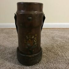 Antique Leather Fire Bucket In Other