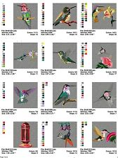 Hummingbirds , 24 embroidery machine designs on CD, Multi Formats available