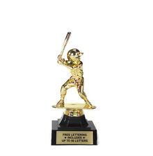 Baseball Batter, Male Trophy- Youth Figure- Desktop Series- Free Lettering