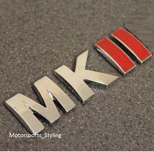 Mkii posterior del coche arranque tronco Portón Trasero Emblema Insignia Autoadhesiva De Mk2 Mark 2 Vw *