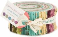 """Moda FABRIC Jelly Roll ~ PRINTS CHARMING ~ by Sandy Gervais  40 - 2 1/2"""" Strips"""