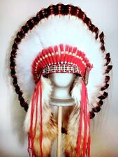 Native American Golden Tear War Bonnet Feather Headdress