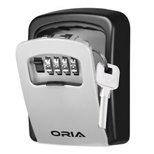 ORIA 4-Digit Combination Key Lock Storage Case Box Wall Mount Safe Security Home