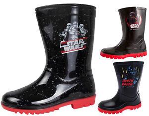 Disney Star Wars Wellington Boots Darth Vader Wellies Kids Boys Snow Rain Boots