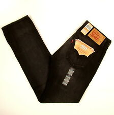 Levis 501 Jeans New Original Fit Mens Size 32 x 34 BLACK WITH FADE Button Fly