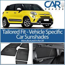 Fiat 500L 5dr 2012 On UV CAR SHADES WINDOW SUN BLINDS PRIVACY GLASS TINT BLACK