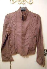Stunning Lagenlook Layering Vintage Chine Collection Purple Jacket 8 10 12