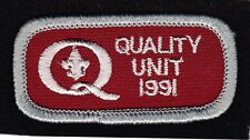 BSA mint 1991 Quality Unit Award patch Boy Scouts of America Cubs Scouts Venture