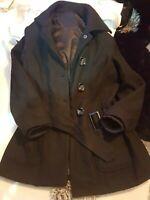 Ladies Blac winter coat jacket  size 10 Warm
