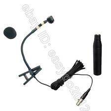 Pro Clip Musical Instrument Microphone For Sax.trumpet, brass, woodwind etc ...
