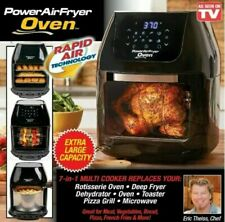 Power Air Fryer Oven 8qt 7 in 1 Cooking whit Dehydrator and Rotisserie - Black