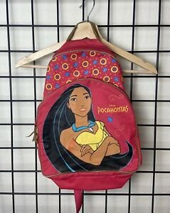 Vintage 90s Disneys Pocahontas Red And Floral Backpack Rare