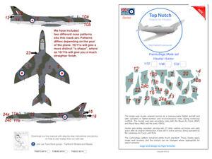 TopNotch Hawker Hunter  camouflage scheme vinyl mask set