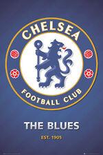 CHELSEA FC The Blues Est. 1905 Official EPL Soccer Team Crest LOGO POSTER