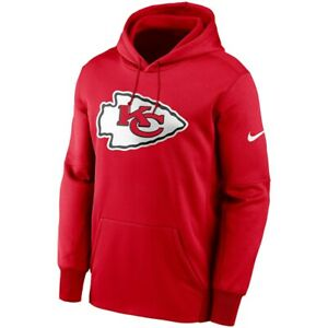New 2021 Kansas City Chiefs Nike Fan Gear Primary Logo Therma Pullover Hoodie