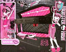 MONSTER HIGH DRACULAURA DOLL JEWELRY BOX COFFIN BED PLAYSET KIDS Fun TOY Girl 6+