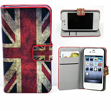Wallet Style PU Leather Phone Flip Case Cover Stand For Apple iPhone 4 4S 4G