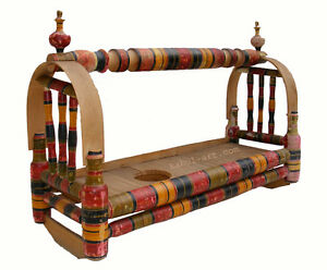antik orientalische traditionelle Holz Babywiege children cradle  Afghanistan