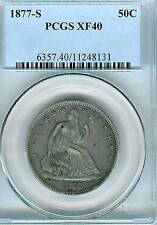1877-S Seated Liberty Half Dollar : PCGS XF40